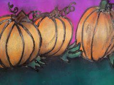 a faithful attempt: Glue Line Chalk Pastel Pumpkins