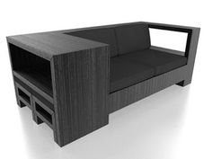 Never would have believed it was made from old pallets! Sofa With Storage Is Made From Recycled Wooden Pallets