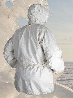 Arctic Anorak, rear view with hood up