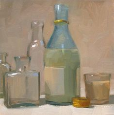 """Sake Crowd"" - Original Fine Art for Sale - © Carol Marine"