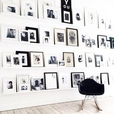 Gallery Wall · Creative Home Decor Inspiration · Wall Art · Black and White Office Inspiration Wand, Interior Inspiration, Ideas Hogar, Deco Design, Home And Deco, Minimalist Interior, Minimalist Decor, Minimalist Design, My New Room