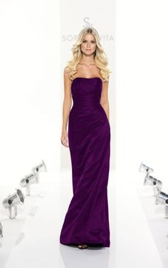 8107 Dark Purple Bridesmaid Dresses by Sorella Vita