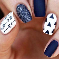 50 Nail Art Ideas That Make Short Nails Look NICE >.<