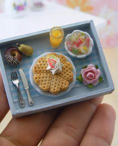 Mini breakfast in bed tray