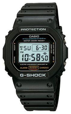 Casio DW5600E-1V Men's Classic Chronograph Alarm Black G Shock Watch - Still a Favorite!*