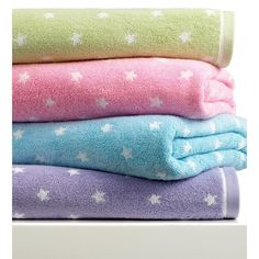 "Kassatex Bath Towels, Bambini Stars 28"" x 50"" Bath Towel ($24) ❤ liked on Polyvore featuring home, bed & bath, bath, bath towels, pink, kassatex bath towels, pink bath towels and kassatex"
