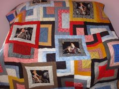 Dan's Biker Pin Up Quilt
