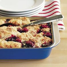 Williams sonoma blackberry cobbler. It was a bit cakey for my taste but pretty good.