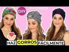 DIY Gorro turbante fácil de hacer - Patrones gratis Turban Headband Tutorial, Twist Headband, Turban Hat, Turban Headbands, Scrunchies, Head Wraps, Sewing Patterns, Winter Hats, Crochet Hats
