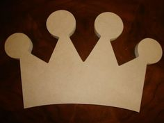 Unfinished Crown Mosaic Base Craft Shape by zzbob on Etsy, $6.25