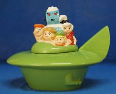 The Jetsons SpaceShip Cookie Jar Ceramic Figurine Hanna-Barbera 12552 #WestlandGiftware