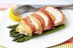Chicken, Proscuitto, Asparagus...yummm! via Fig & Cherry Blog