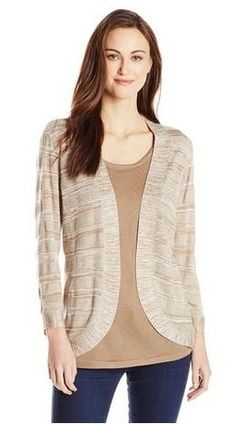 Sag Harbor Womens Curve Hem Duet Sweater