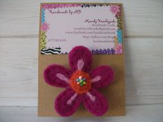 AVAILABLE TO BUY NOW FOR MOTHERS DAY Needle Felted Flower Brooch. £5.50 plus p&p