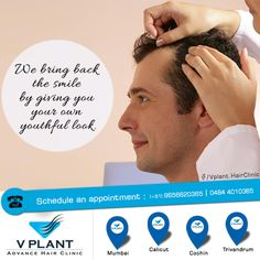 We bring back the smile by giving you  your own youthful look.  Get your hair transplanted from VPlant - Advance Hair Clinic for Hair Transplantation ☎: (91) 9656620365 | 0484 4010365 📧: vplanthairclinickochi@gmail.com 🌐: www.vplanthairclinic.com #Hairtransplantation #Hairlosstreatment #Hairfalltreatment ➡ VPlant VPlant - Advance Hair Clinic for Hair Transplantation
