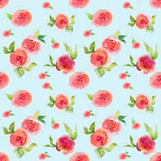 Watercolor Floral Fabric - Red Roses Light Blue - Floral Print By Shopcabin - Boho Floral Cotton Fabric By The Yard With Spoonflower Double Gauze Fabric, Cotton Twill Fabric, Floral Print Fabric, Floral Prints, Floral Watercolor, Custom Fabric, Spoonflower, Red Roses, Printing On Fabric