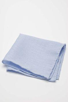 Błękitna poszetka do garnituru / Blue pocket square