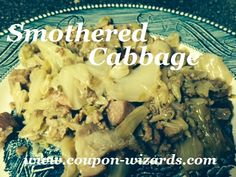 Smothered Cabbage In The Crock Pot #comfortfood #smotheredcabbage