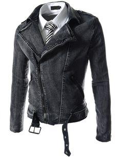 "Men's ""Gunner"" Denim Rider Biker Jacket"