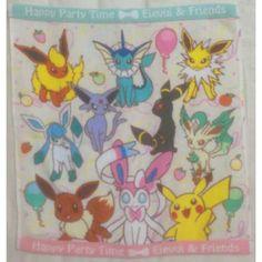 Pokemon Center 2013 Sylveon Eevee Espeon Flareon Glaceon Jolteon Leafeon Umbreon Vaporeon Pikachu Hand Towel