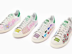 Pharrell Williams for Adidas Originals Stan Smith Basket Adidas Stan Smith, Stan Smith Sneakers, Pharrell Williams, Most Comfortable Sneakers, Painted Sneakers, Street Looks, Custom Shoes, Uniqlo, Shoes