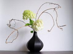 Ikebana flower arrangement with Hydrangea by Otomodachi, via Flickr