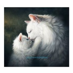 Full Square White cat picture diamond painting cross stitch diamond mosaic diamond embroidery painting wall sticker home deco Kittens Cutest, Cats And Kittens, Baby Cats, Kitty Cats, Mother Cat, Gatos Cats, Kitten Love, White Cats, Cat Drawing