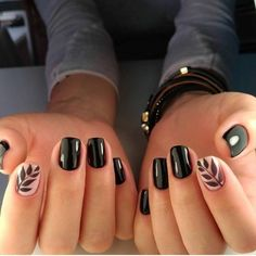 gelnagels of acrylnagels beste outfits - - - gelnagels of acrylnagels beste outfits – Nail Polish ideas 26 Pretty Fall Nail Art Design You Must Try Now – Page 13 of 26 – BEAUTY ZONE X Cute Black Nails, Black Nail Art, Cute Nails, Black And Nude Nails, Black Nail Polish, Fall Nail Art Designs, Black Nail Designs, Easy Nails, Simple Nails