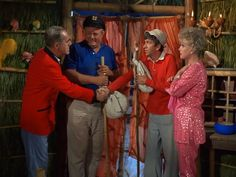 .Gilligan and Skipper, leaving to go to the other side of the island