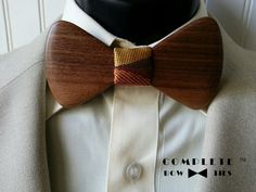 Men's Walnut Wood : Bow Tie