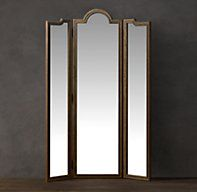 Levico Standing Triptych Mirror - Natural | Wood | Restoration Hardware