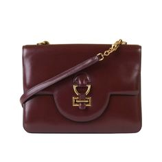 935f0b2f0e Pristine Vintage Hermes  Sandrine  Burgundy Box Leather Handbag