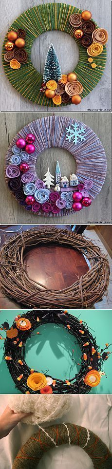 muito interessante para fazer com os filhotes. How did they get it red & fuzzy? (Last one is cloth covered, of course. Easy Christmas Decorations, New Years Decorations, Diy Christmas Ornaments, Holiday Wreaths, Christmas Art, Christmas Projects, Simple Christmas, Winter Wreaths, Spring Wreaths