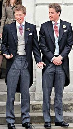 """Prince William and Prince Harry---Outside of Westminister Abbey, April 2011...A Future King & His Little Brother...""""Get To The Church On Time, Kate,"""" Harry Seems To Be Mouthing..."""