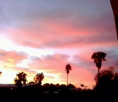 Sunset in Mesa area