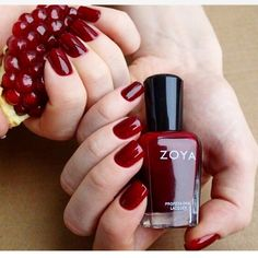 Zoya Dakota Burgundy Nail Polish, Zoya Nail Polish, Nail Colors, Colours, Essie, My Nails, Nail Designs, Nail Art, Pomegranates