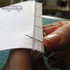 how to make books. Cosido de libros
