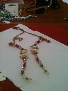 Cordicella per occhiali con cristalli e perle