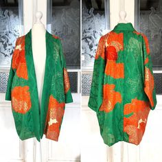 Damen Chiffon Stickerei Kimono Mantel Japanisch Jacke Blumenmuster Strickjacke