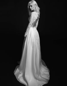 Rime Arodaky 2015 Bridal Collection  - Avery Wedding Dress with gorgeous lace cut out back