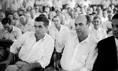 JW Milam (right) admitted to the brutal murder of 14-year-old Emmett Till but was acquitted.