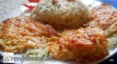 Érdekel a receptje? Kattints a képre! Mashed Potatoes, Cauliflower, Bacon, Recipies, Pork, Rice, Meat, Chicken, Vegetables