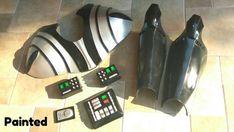 Darth Vader Full Suit Foam Templates Cosplay Costume Darth Vader Costume Kids, Darth Vader Suit, Darth Vader Cosplay, Cosplay Tutorial, Cosplay Diy, Cosplay Costumes, Star Wars Birthday, Star Wars Party, Foam Cutter