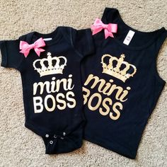 Mini Boss - Girls Tank - Girls Onesie - Onesie - Ruffles with Love - R
