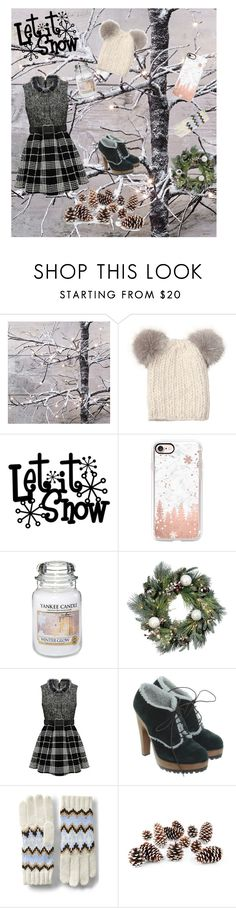 """""""Let it snow🌲❄️🌨☃☕️"""" by fcfashion ❤ liked on Polyvore featuring Eugenia Kim, Casetify, Yankee Candle, Improvements, Dolce&Gabbana, Lands' End and Knud Nielsen Company"""