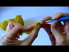 Basisrij zonder ketting van lossen met vasten, halve stokjes en stokjes