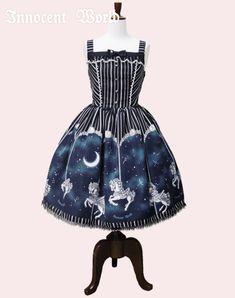 Midnight Merry-Go-Round Lame Lace JSK Kawaii Fashion, Lolita Fashion, Gothic 696b74e8988