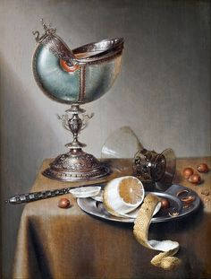 Marten Boelema de Stomme (Dutch, 1611-1664 or later), Still-Life with Nautilus Cup, oil on panel, Hallwyl Museum, Stockholm