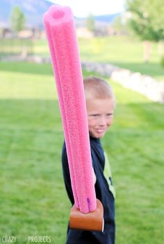 Easy DIY Foam Sword (that doesn't hurt when they hit!)