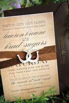 Western Theme Wedding Invitation